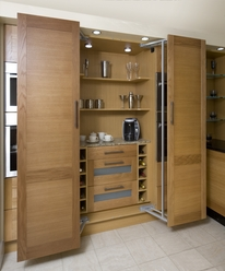 Larder with easy access