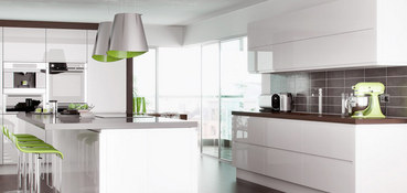 High Gloss Handle Free Kitchens