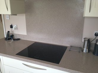 Induction Hob Flush w/Corian Worktop